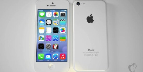 low cost iphone render white